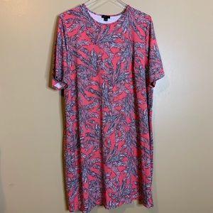 J Jill Wearever Collection Palm Tree Dress Size 2X